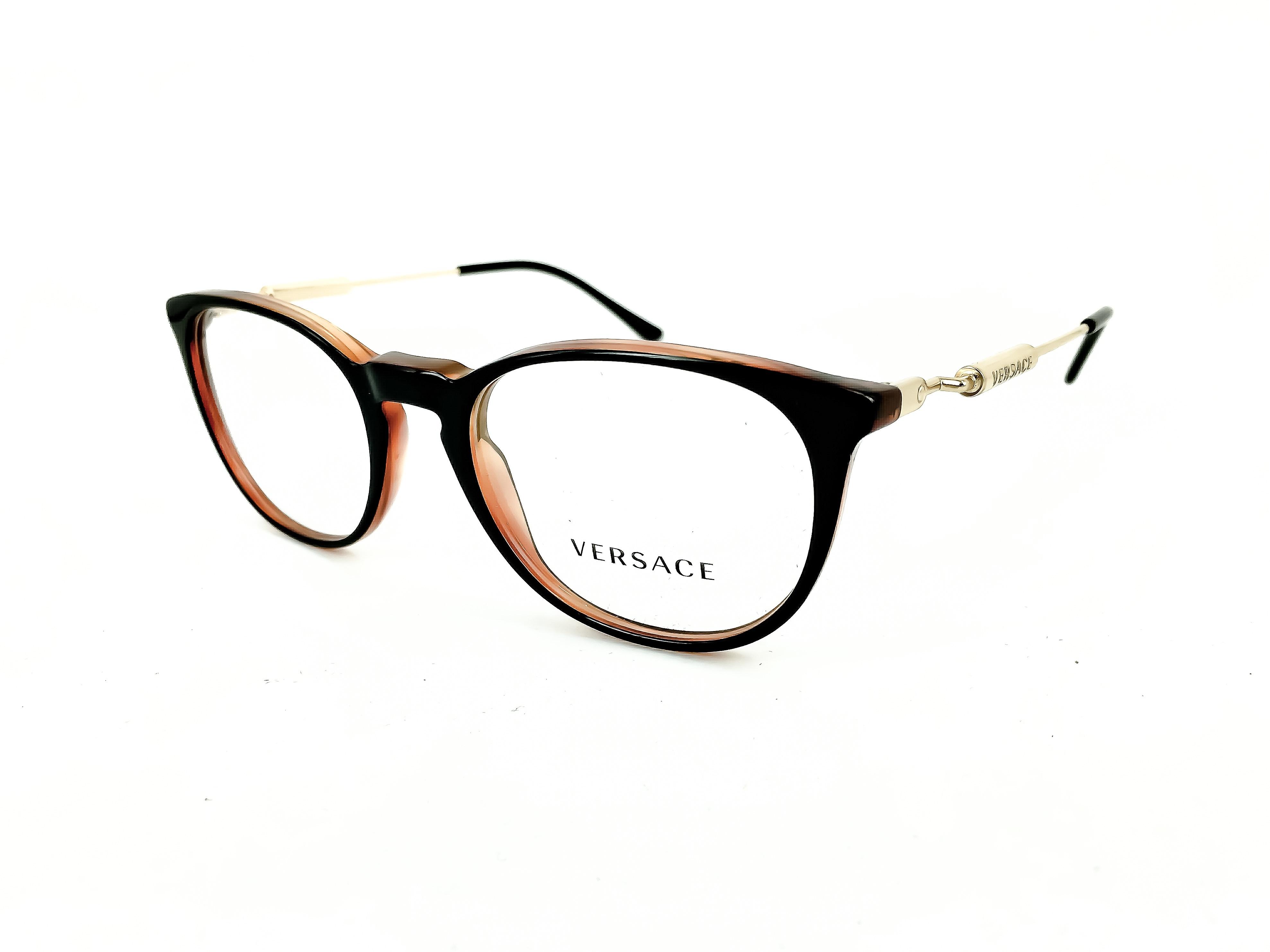 86f1616457 Τα γυαλιά οράσεως VERSACE 3227 138 51 έχουν ήπιο στρογγυλό σχήμα και  ταιριάζουν ιδανικά σε μικρά αλλά και μεσαία πρόσωπα.